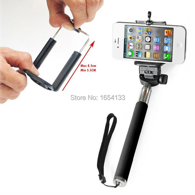 Handheld Monopod selfi Selfie Stick + Holder + Bluetooth Shutter Remote pau de self para celular