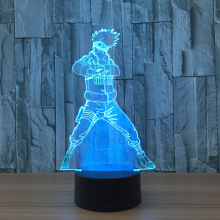 Naruto Action Figure Kakashi 3D LED Night Light Table Lamp 3D Novelty Nightlight Decoration for Child Gift
