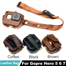 Hero7 Carry case Protective bag for Gopro Hero5 Black Edition PU Leather Bag Protection Go Pro HERO5 6 Action Camera Accessories экшн камера gopro hero5 black edition