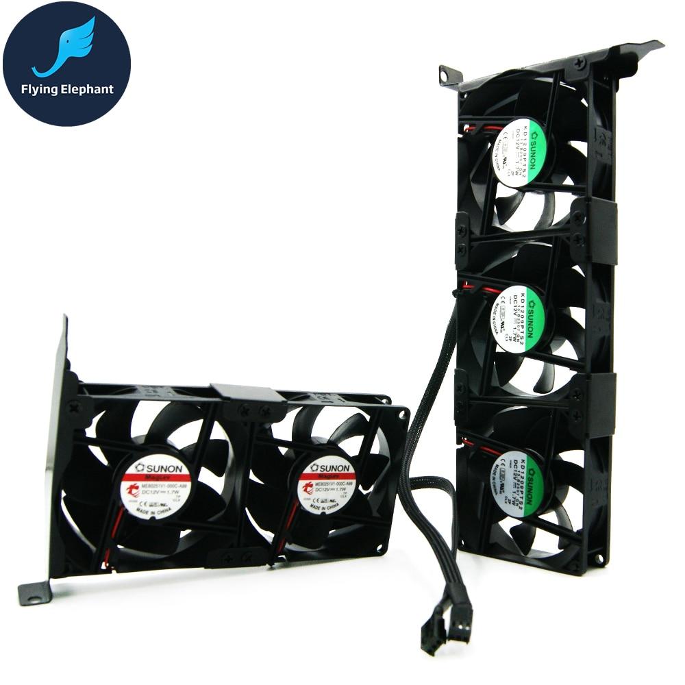 VGA COOLER GPU Cooling Fan 8025 PCI GPU Companion 2 Fans & 3 Fans Optional