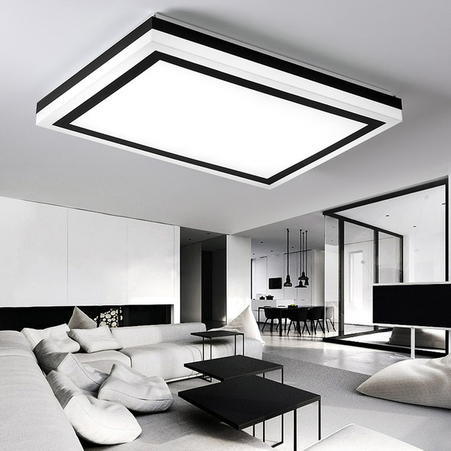 Elegant Moderne Led Deckenleuchten Büro Balkon Beleuchtung Innen Licht Rechteck  Deckenleuchte Wohnzimmer Lamparas De Techo Leuchte