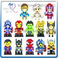Mini Qute WTOYW LOZ Marvel super hero The Avengers capitán américa X-Men de diamantes de plástico juguetes educativos bloques de construcción