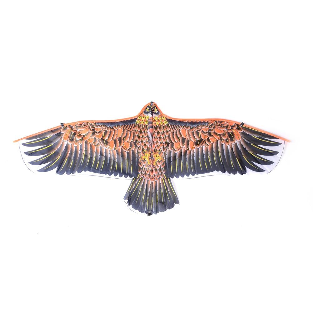 New 1Pc Outdoor Big Flying Flat Eagle Bird Kite For Children Flying Bird Kites Windsock Toy Garden Cloth Eagle Kite Random Color