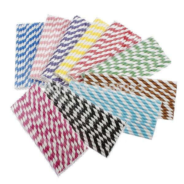 Nuovo 25 pz lotto Colorato A Strisce cannucce di carta creativo cannuccia  Decorazioni di Nozze. Posiziona il mouse sopra per ingrandire a984bc8fdb7c