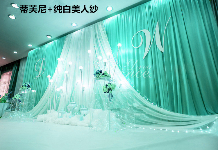 New Design 10x20ft Tiffany Blue Wedding Backdrop Curtain