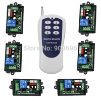 AC220V 1 CH 1CH RF Wireless Switch Remote Control Switch System 6CH Transmitter Toggle Momentary 315