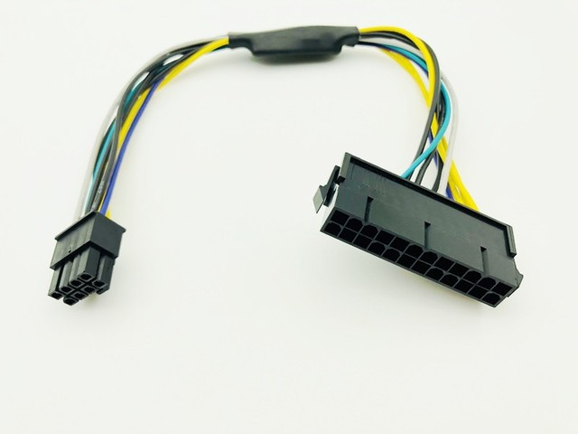 Power Cable for Dell 30cm 24Pin to 8Pin Optiplex 3020 7020 9020 ATX Power Supply Motherboard Adapter Cable ATX 24P to 8P Cables