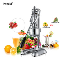 Stainless Steel Manual Hand Press Juicer Squeezer Citrus Lemon Orange Pomegranate Fruit Juice Extractor Commercial Household