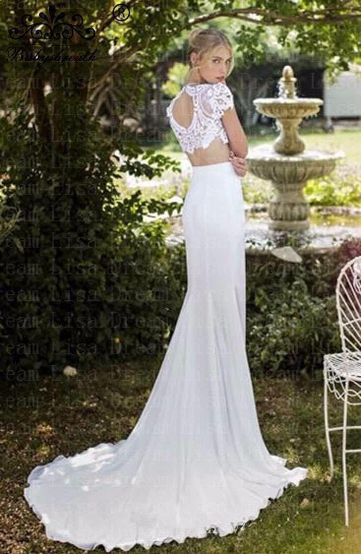 Cheap-Lace-Wedding-Dress-Vestidos-Black-Friday-Boda-2016-Front-Slit-Bodice-2-Piece-Bridal-Gowns (1)