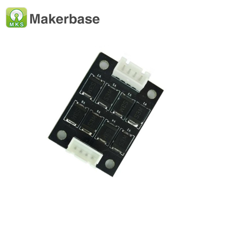 3D Printer Parts 1pcs MKS Smoother Addon Module TL-Smoother for 3D Printer stepper motor driver module 3da14 stepper motor driver module for 3d printer makerb reprap black silver