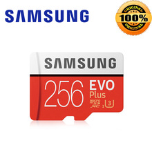 hot deal buy samsung evo+ micro sd 256g sdhc 100mb/s grade class10 memory card c10 uhs-i tf/sd cards trans flash sdxc 64gb 128gb for shipping