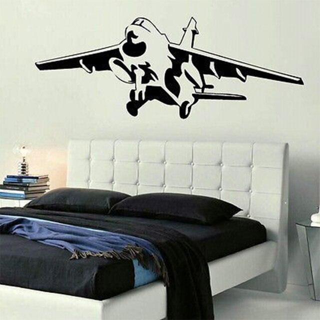 Flugzeug wandaufkleber für kinderzimmer jungen hubschrauber ...