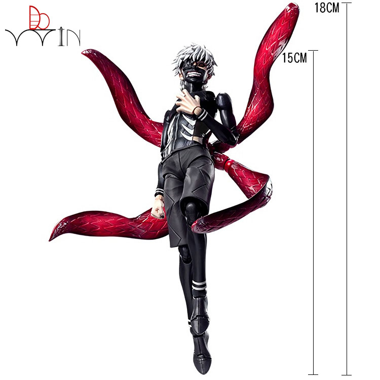 Dowin 16cm Tokyo Ghoul Kaneki Ken Awakened Ver. PVC Action Figure Doll Collectble Model Toy Anime Figurine 28cm tokyo ghoul ken anime action figure pvc collection model toys brinquedos for christmas gift free shipping