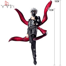 Dowin 16cm Tokyo Ghoul Kaneki Ken Awakened Ver. PVC Action Figure Doll Collectble Model Toy Anime Figurine anime tokyo ghoul figure toys mask ken kaneki melanism pvc action figure collection model toy gift