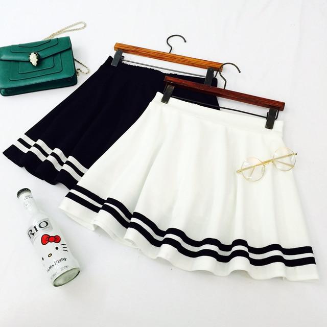 Mori girls Japanese Style Navy White Black Stripe A-line Skirt Lolita Sailor Skirt Cosplay Costumes Japan School Uniform