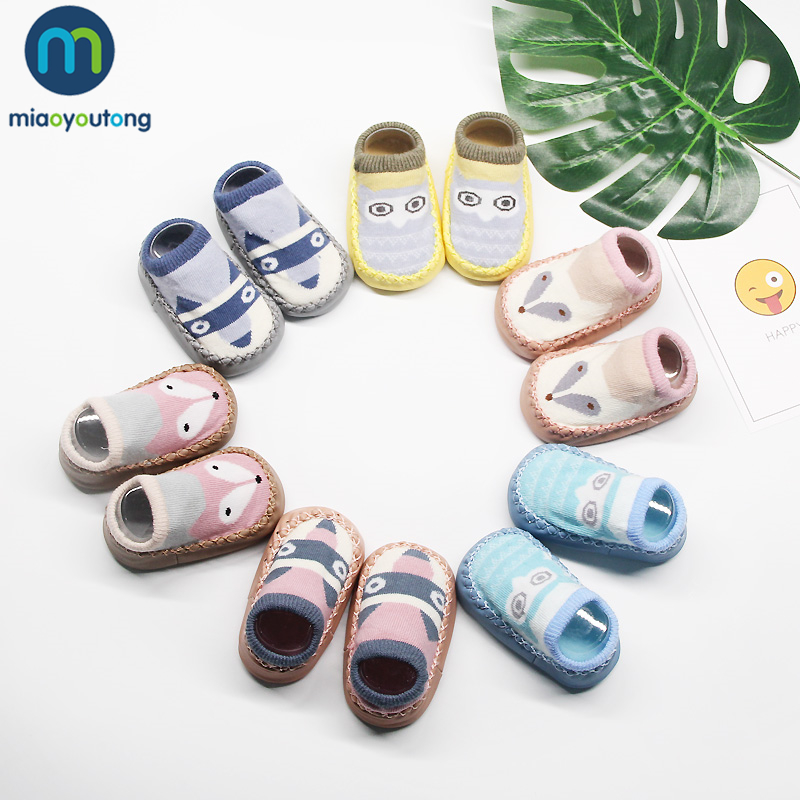 Animal Pattern Newborn Shoes Infant First Walkers Tollder Shoes Baby Prewalker Floor Socks Anti Slip Soft Sole Sock Miaoyoutong