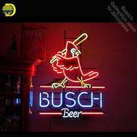 busch beer Neon Light Sign Real Glass Tube neon lights Recreation Professiona Iconic Sign Beer Bar Pub sign board Lamps 17x14