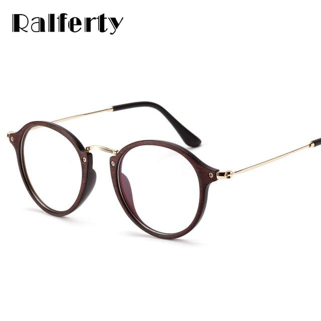 Online Shop Ralferty Imitation Wood Glasses Frame Women Men Plastic ...