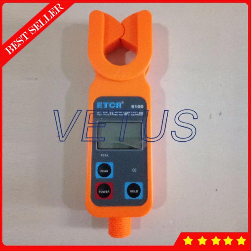 Etcr9100 цифровой амперметр переменного тока с Портативный высокая/низкая Напряжение AC Ток утечки клещи измерения