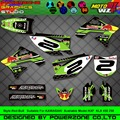 Customized Team Graphics  Backgrounds Decals 3M Custom Stickers For KAWASAKI  KX250F KX450F KXF KLX 450 250 RB-001