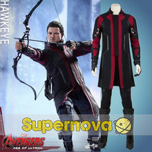 Avengers Hawkeye Copslay Costume Age of Ultron Superhero Hawkeye Outfit Adult Men Halloween Cosplay Costume Custom Made