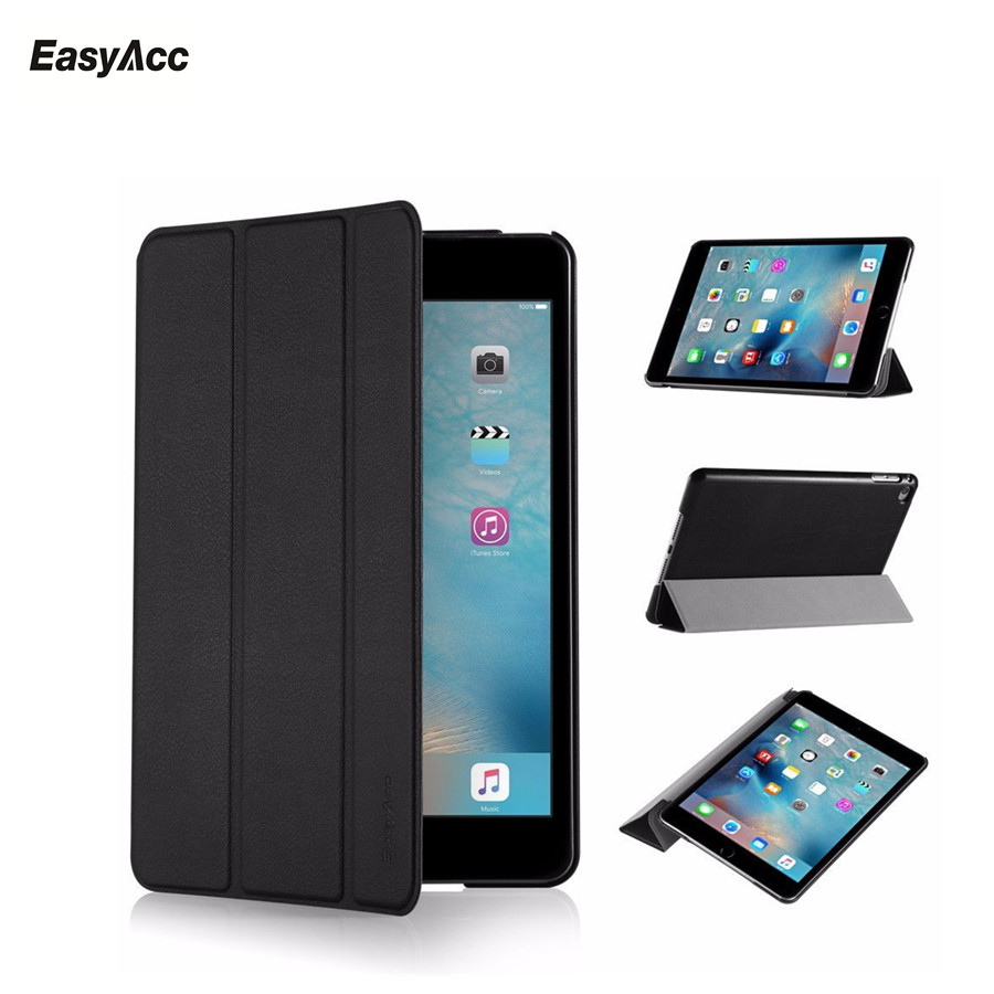 Case For iPad Mini 4,Easyacc Slim Fit Auto Wake up/Sleep Light Weight PU Leather Trifold Stand Smart Cover Free shipping case for ipad mini 1 2 3 smart cover soft tpu silicone back pu leather flip stand auto sleep wake up capa for ipad mini case