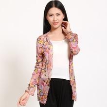 new arrival 100% silk female shirt pure women silk dress sun proof clothing female long sleeved cardigan silk sunscreen-b193