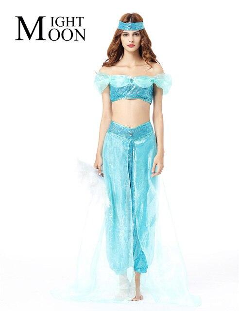 MOONIGHT Women Halloween Cosplay Party Wedding Belly Dancer Aladdin ...
