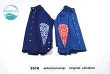 LinenAll мужская синий оксфорд хлопок индиго натуральные растительные синий кешью цветы лоскутное падение vintage рубашки мужчины