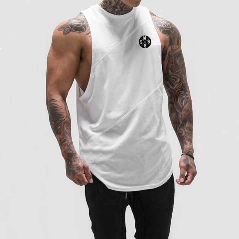Muscleguys Brand Mens Sleeveless   Tank     Tops   Summer Cotton   Tank     Top   gyms Clothing Bodybuilding Undershirt Fitness tanktop