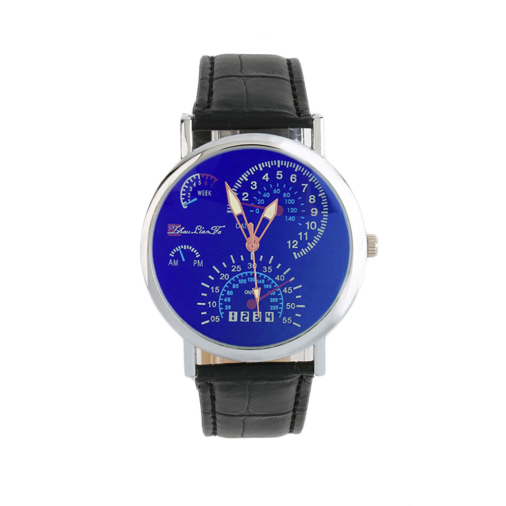Fashion Quartz Wrist Watch Analog Round Dial Leather Watch Band with Brown/Blue/White/Black color relogio masculino ophir cake airbrush compressor kit dual action airbrush spray gun for hobby cosmetics makeup body paint nail art machine kit