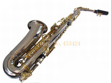 Original Henlucky E Flat Alto Saxophone Eb Musical Instrument Saxe NI gold plated Process Sax Professional good quality saxofone