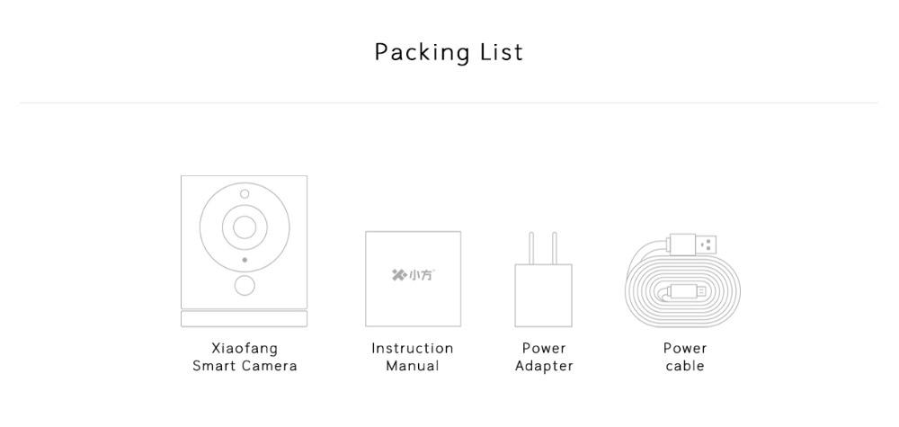 Xiaomi mijia xiaofang dafang câmera inteligente 1