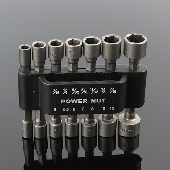 14pcs Pneumatic Strong Power Nut Driver Drill Bit Set 1/4