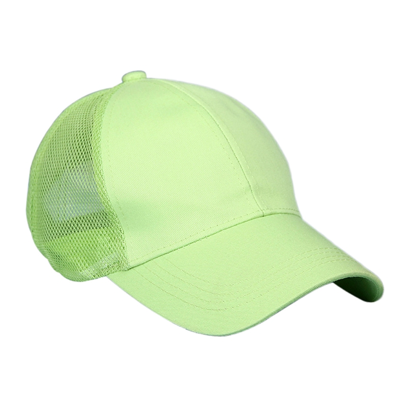 KLV New Summer Sport Mesh Baseball Caps Unisex Outdoor Breathable Hats Adjustable Size Cotton Hats Solid Fashion 58cm-60cm