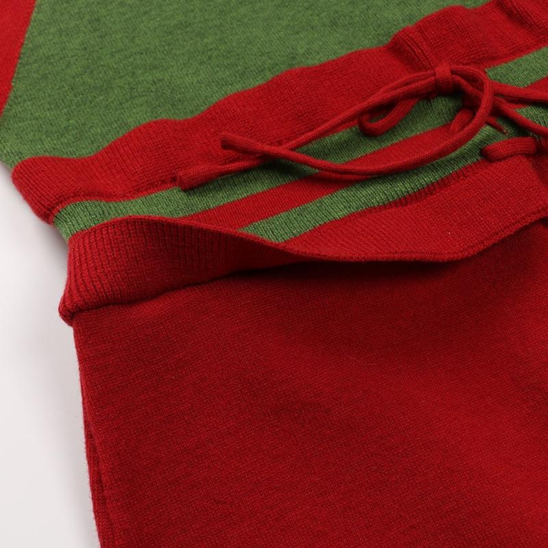 Vestidos Vestido Redondo Gruiiceen Runway Alta De Gy2018404 Con Cintura Cuello Largas Invierno Tejer Fajas Multiple Suéter Señoras Oficina qXxROAw8X