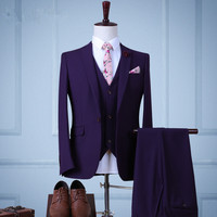 18 Styles Suits Mens Spring And Autumn Slim Fit Jacket Pants Vest Shirt Tie Belt Bow