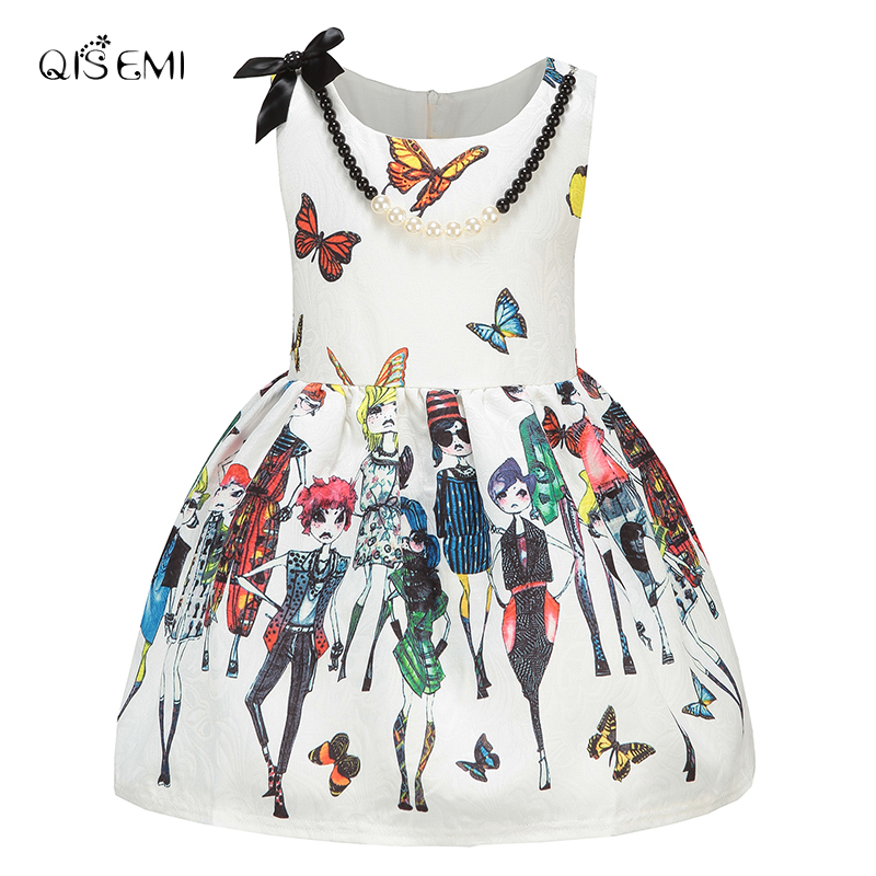 b8d87135f6da QISEMI Milan Creations Girl Dress Butterfly Baby Kids Dresses For ...