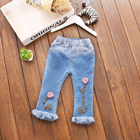 2017 New Spring And Autumn Jeans For Girls 100 Cotton Baby Pants Children S Trousers Children