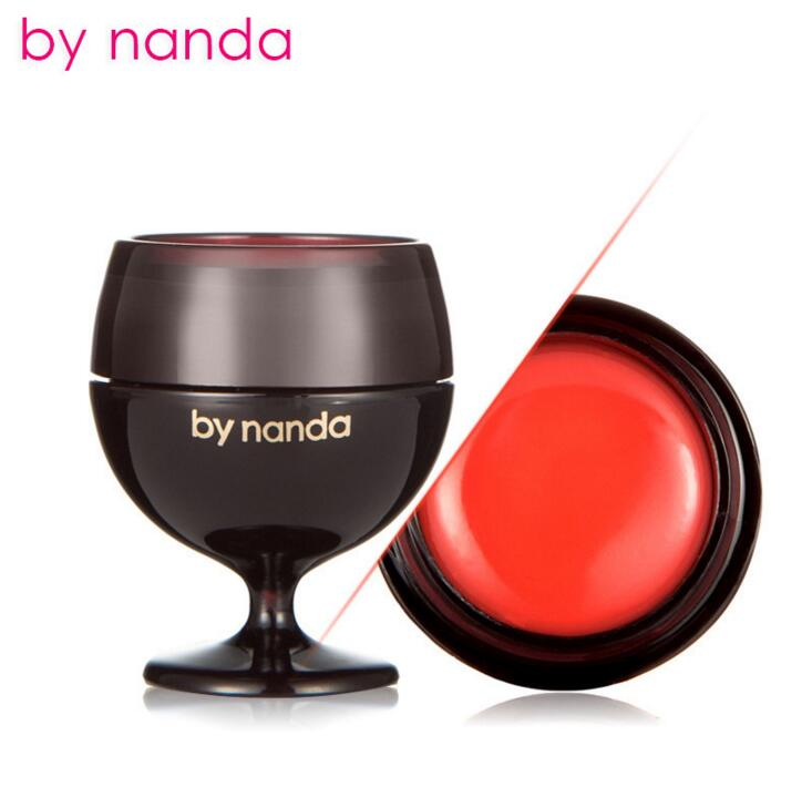 By Nanda 3 Colors Red Wine Lipstick Moisturizing Fruits Jelly Lip Balm Natural Nourish Care Baby