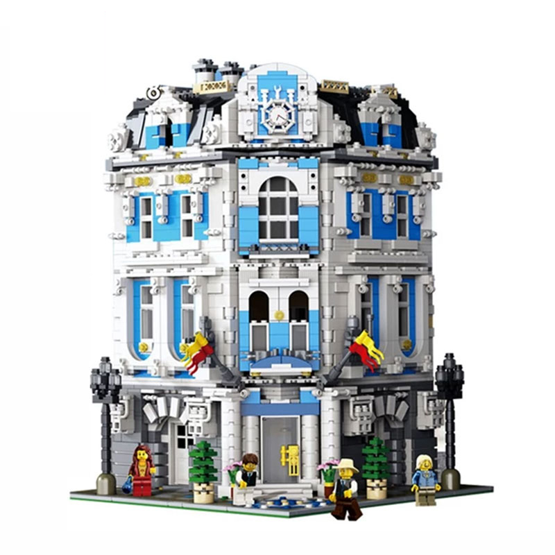 Street View 15018 3196 pièces MOC série le soleil hôtel définit modèle blocs de construction briques Kits éducatifs enfants jouets
