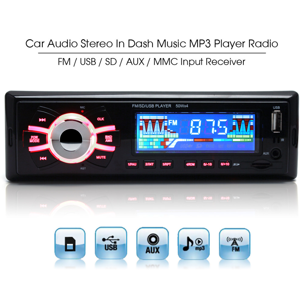 12v stereo car radio auto mp3 audio playback player. Black Bedroom Furniture Sets. Home Design Ideas