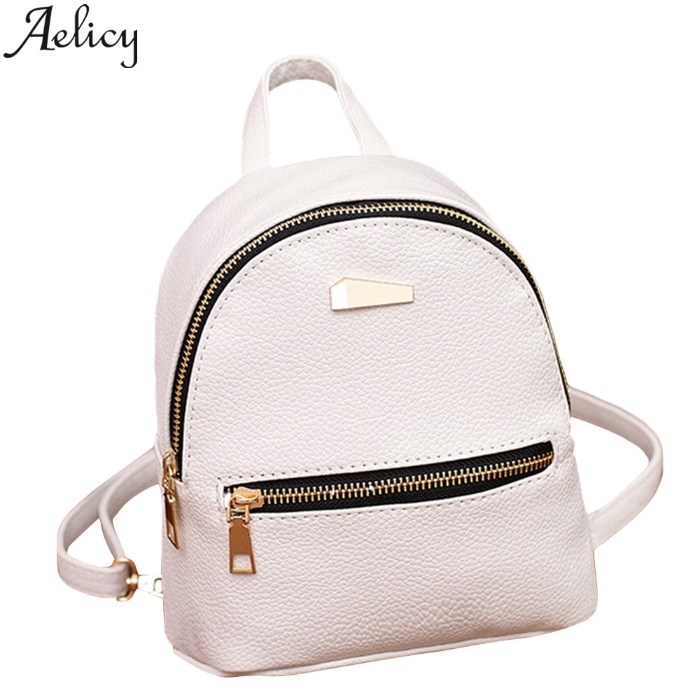 Aelicy Fashion Ladies Backpacks High Quality Youth Leather Backpack Girl Small Fresh School Shoulder Bag Backpack WomenAelicy Fashion Ladies Backpacks High Quality Youth Leather Backpack Girl Small Fresh School Shoulder Bag Backpack Women