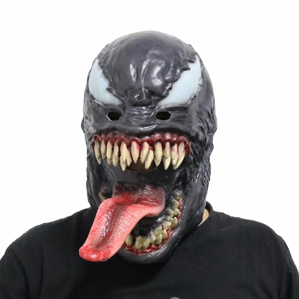 The Venom Mask Cosplay SpiderMan Edward Brock Dark Superhero Venom Latex Masks Helmet Halloween Party Props
