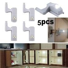 5 قطعة خزانة التلقائي LED إضاءة الخزانة الأبيض ذكي التعريفي مصباح لوازم المطبخ المنزل (لا تشمل البطارية)