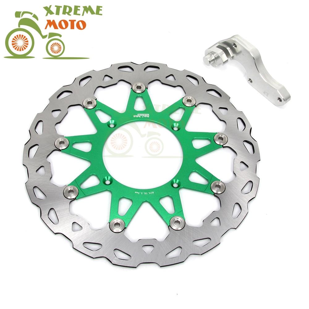 Green 320 Flaoting Brake Disc + Bracket For Kawasaki KX125 KX250 KX250F KX450F KLX450R Motocross Enduro Supermoto Dirt Bike