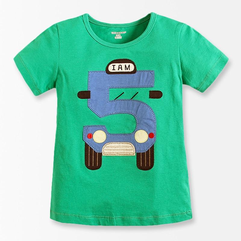 Number series no 5 print toddler boy shirts 2016 baby for Toddler t shirt printing