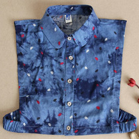 Red Month Sexy Cowboy Color Fashion False Collar Lady Decorative Lady Decoration Sweater Dress Collar Shirt