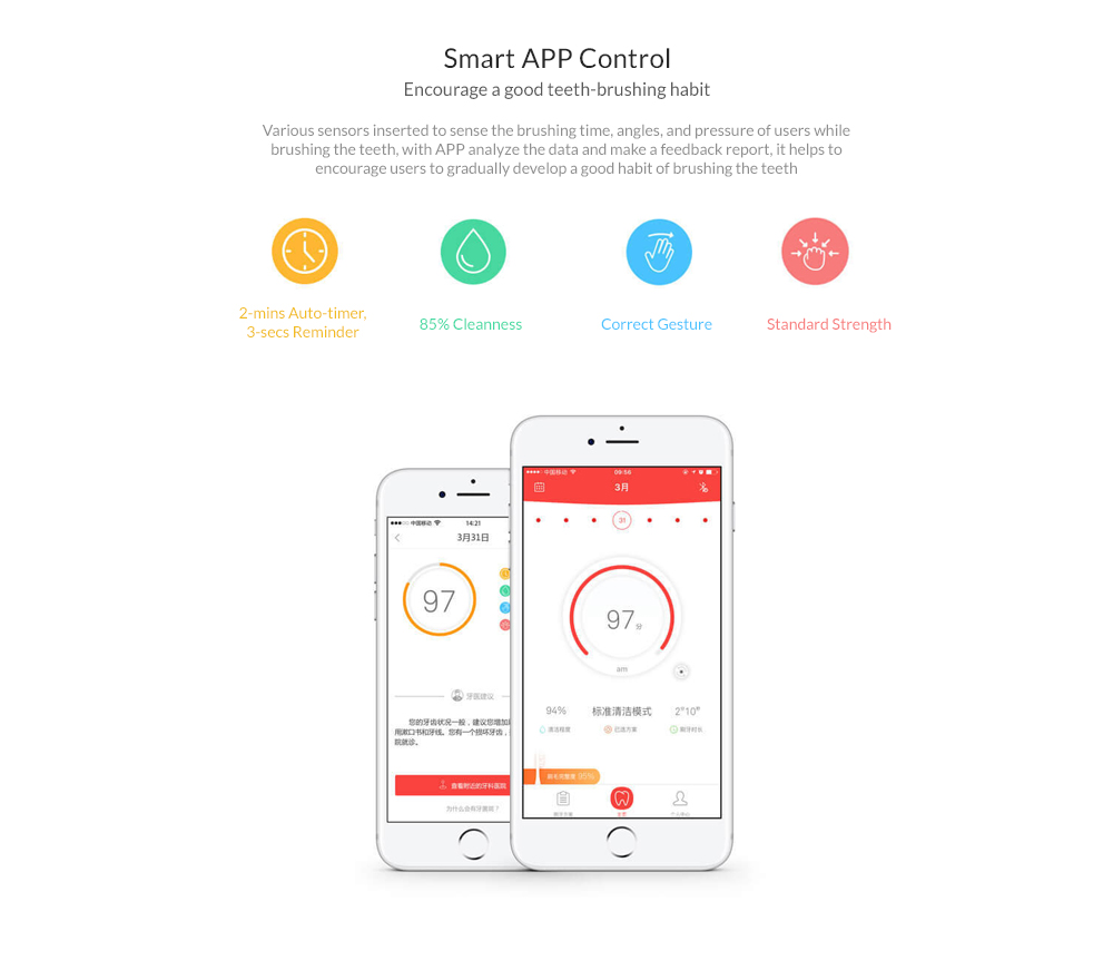 Xiaomi Oclean One Electric Toothbrush Set with 4 Brush Head Wall-Mounted Holder APP Control Waterproof Fast Charging Tooth Brush