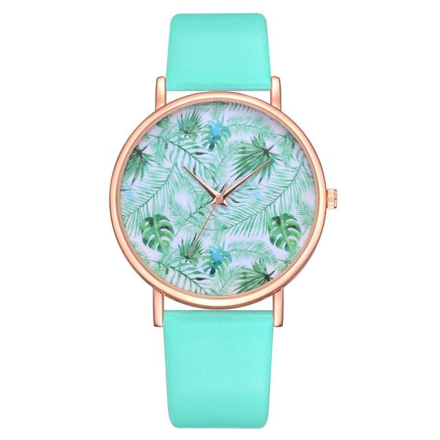 lady Special Gifts Crystal dial quartz analog leather Creative personality desig